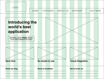 Uso de distintos tamaños de fuente para diferenciar los distintos niveles de la jerarquía de la información.
