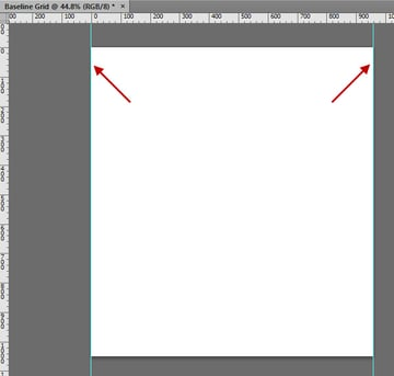 Drag Out Guides To the Edges of the Document