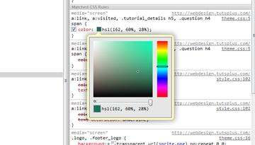 Chrome's dev tools color picker