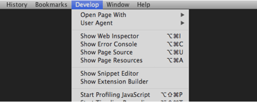 Safari 6 Developer Menu