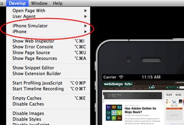 Screenshot developer menu devices