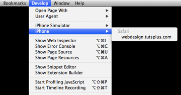 Screenshot developer menu real device