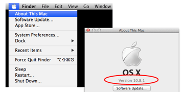 OSX Version Number Screenshot
