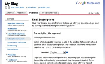 Offering Email Subscriptions
