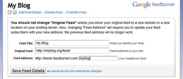 Feed Redirection