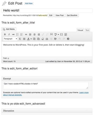 Edit Form Hooks