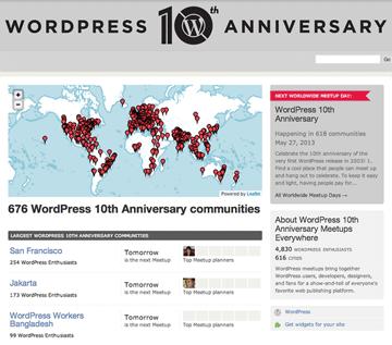 WordPress Meetup Everywhere 10th Anniversary
