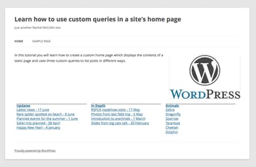the home page with the listings styled