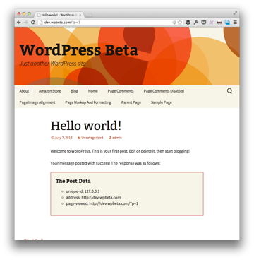 WP Remote Post Example with Style