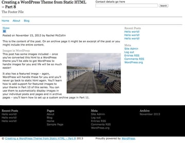 creating-wordpress-theme-from-static-html-colophon