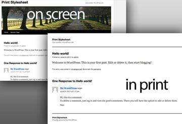 Adding a print stylesheet to WordPress