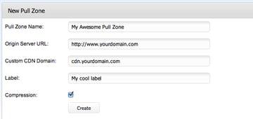 Create Pull Zone