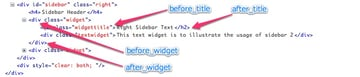 Widget HTML Output