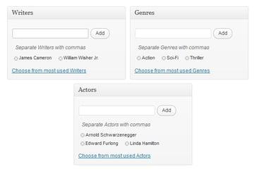 Backend Taxonomy Screenshot