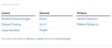 WordPress taxonomy example