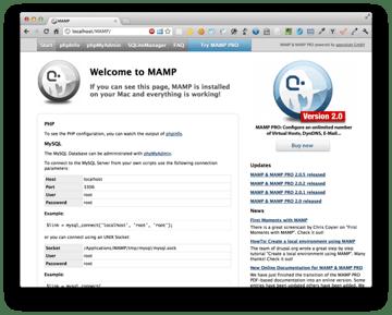 MAMP Homepage