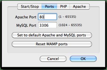MAMP Ports