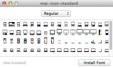 Installing the .ttf font
