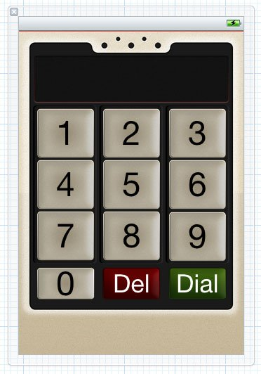 Phone Screen with Custom Button