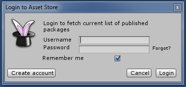 Package manager login