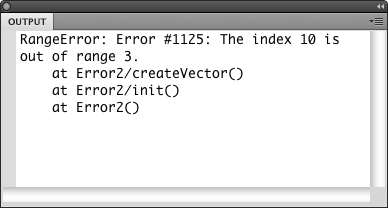 A run-time Error in the Output Panel