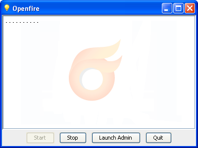 Openfire starting up