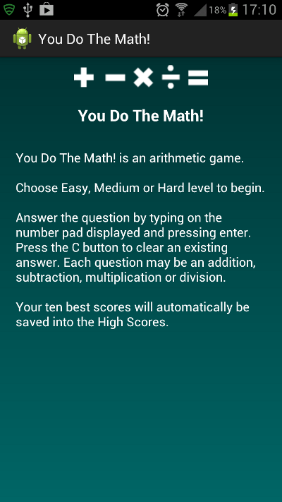 How to Play Activity Screen
