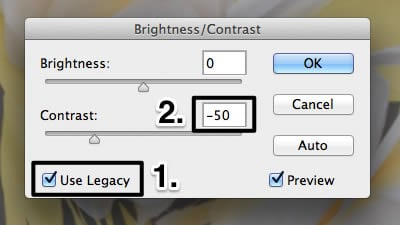 Brightness and contrast settings