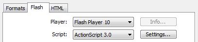The Flash Properties Panel