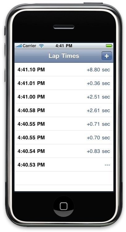 core data lap timer final preview