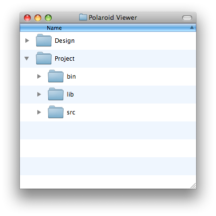 The folder structure which we'll use in our tutorial