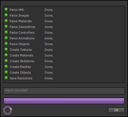 Import Complete Dialog