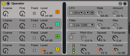 Ableton Operator synth