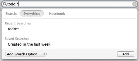 Advanced searches help you sort through your bazillions of notes.