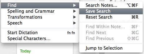 You can save searches in the Edit menu.