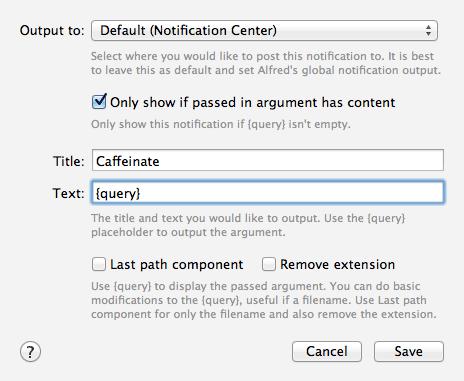 Caffeinate Post Notification Modal