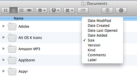 Choose which categories you want Finder to display.