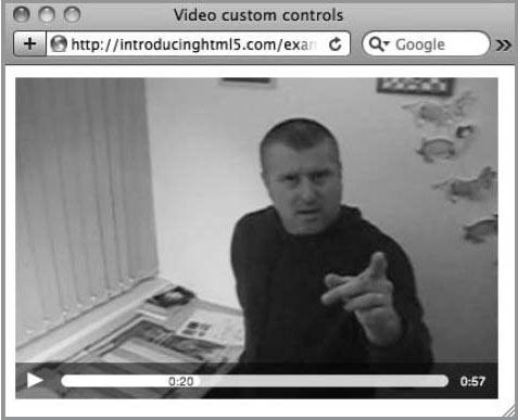 Custom video controls