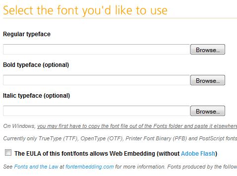 Choose A Font