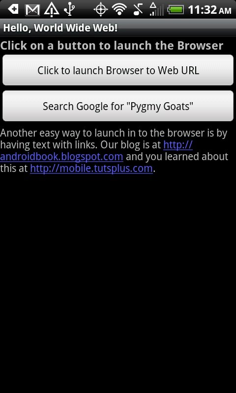 Open Android Browser