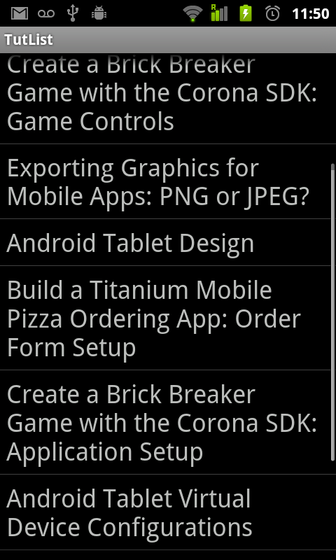 Android Listview Figure 1