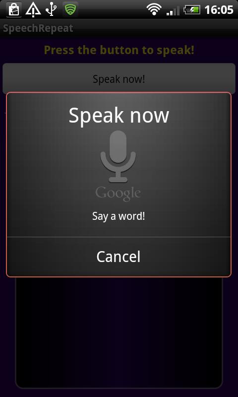 Speak and Repeat Listening
