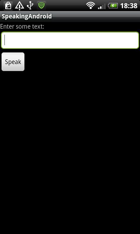 Speech App User Interface
