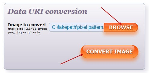 Convert the image to a Data URI