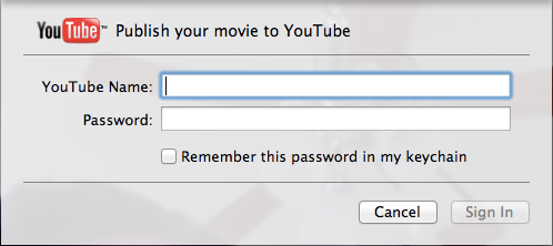 Sharing a video to YouTube may be faster here than in the browser.