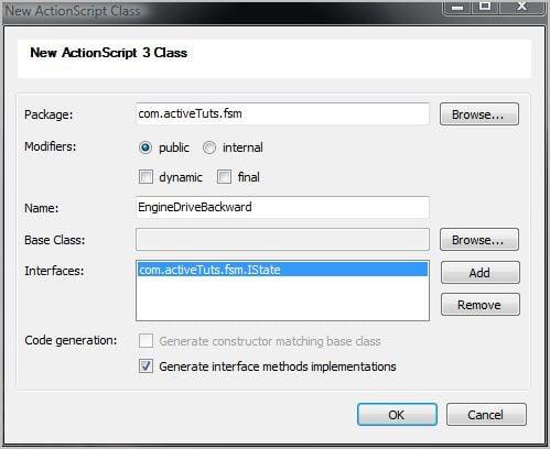 Finite state machine design pattern in AS3