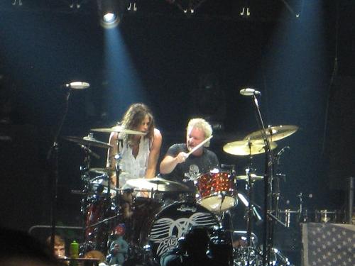 Steven Tyler and Joey Kramer of Aerosmith Photo By Abog