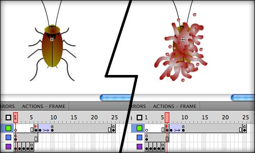 Cockroach animation keyframes