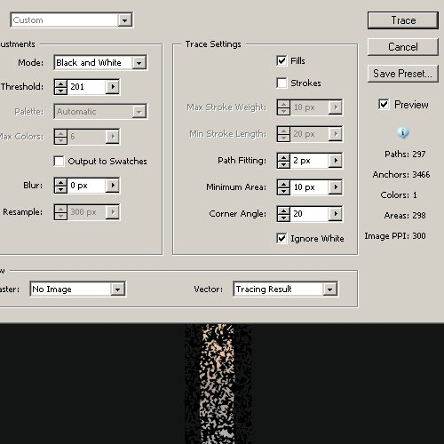more texture tracing parameters