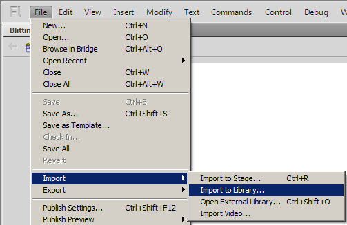 File   Import   Import to Library...